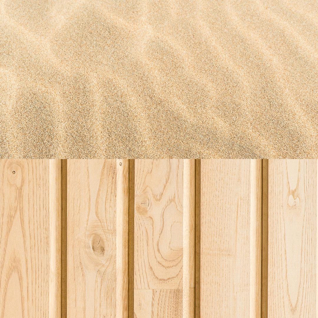 Bardage bois colore sable de la gamme Révélée