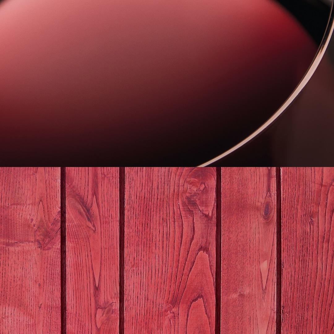 Bardage bois colore marsala de la gamme Révélée